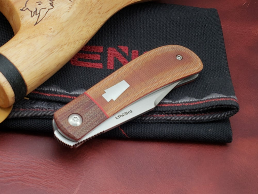 Image of Lanny's Clip Front Flipper with natural micarta