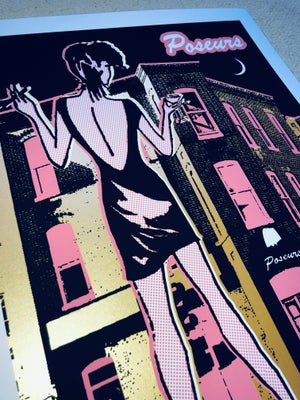 Image of Poseurs Art Print - Pink & Gold Edition