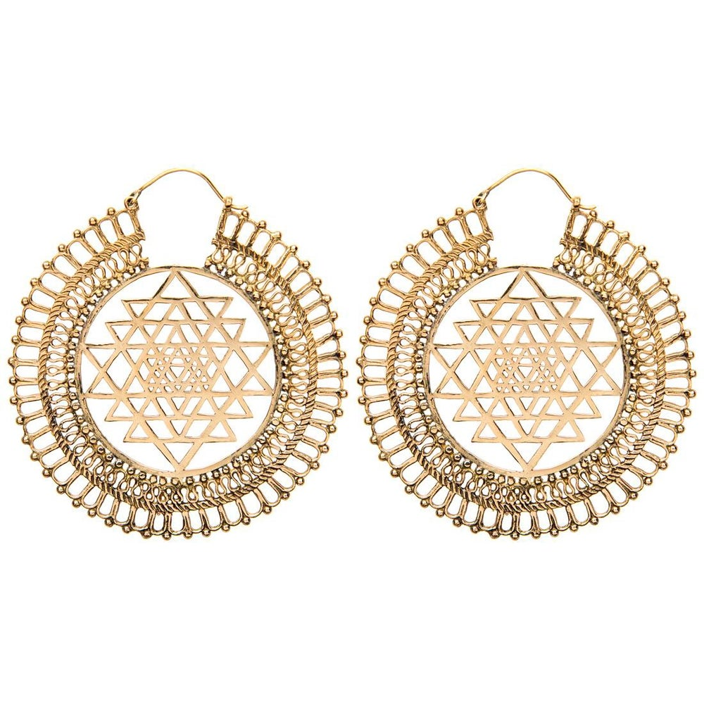 Image of The Sri Yantra Earrings