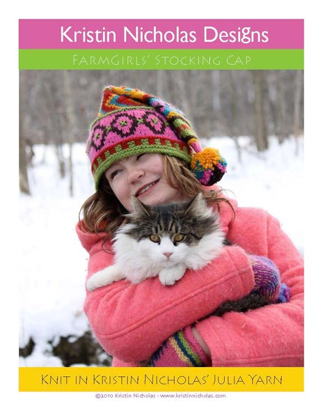 Image of Knit PDF - Farmgirl's (or Farmboy's) Stocking Cap Download