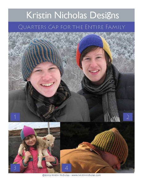 Image of Knit PDF - Quarters Cap for Adults, Kids and Babies Download