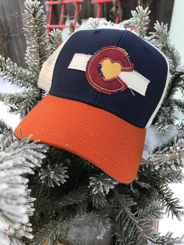 Image of Colorado Love Trucker Hat- Tri-Navy
