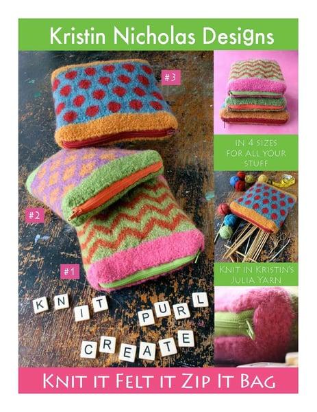 Image of Knit PDF - Knit It • Felt It • Zip It Bag Download