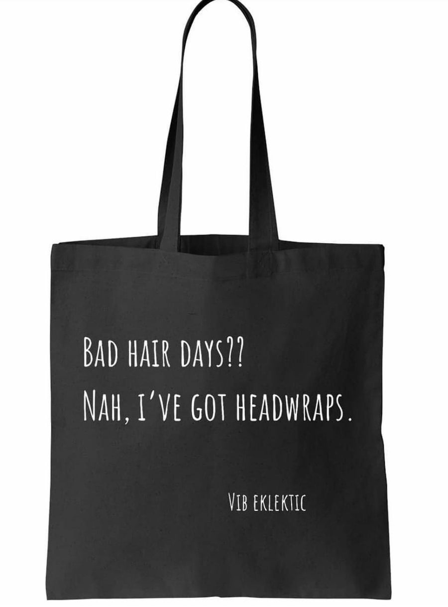 Image of BAD HAIR DAYS - CANVAS TOTE