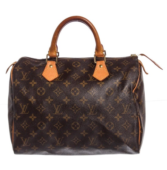 Image of Louis Vuitton Monogram Canvas Leather Speedy 30 cm Bag
