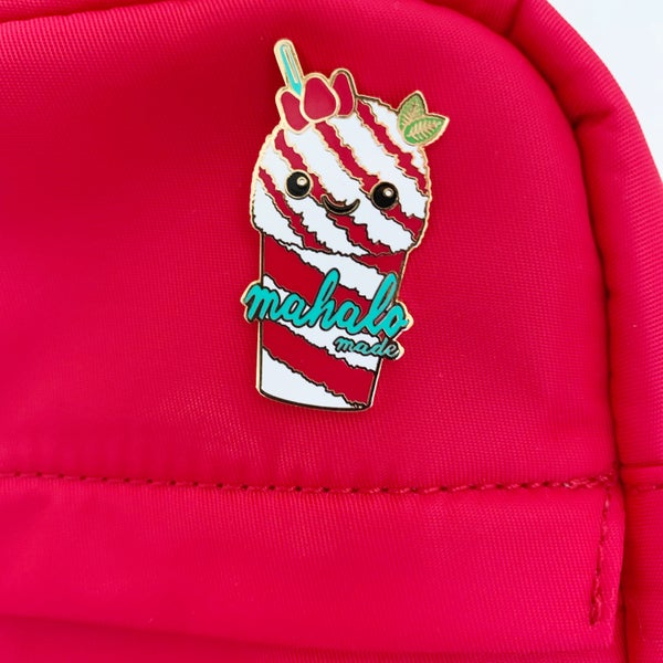 Image of Classic Strawberry Shave Ice Pin
