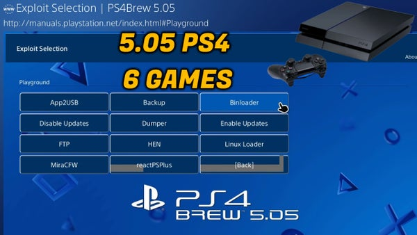Image of 5.05 PS4 + 6 GAMES