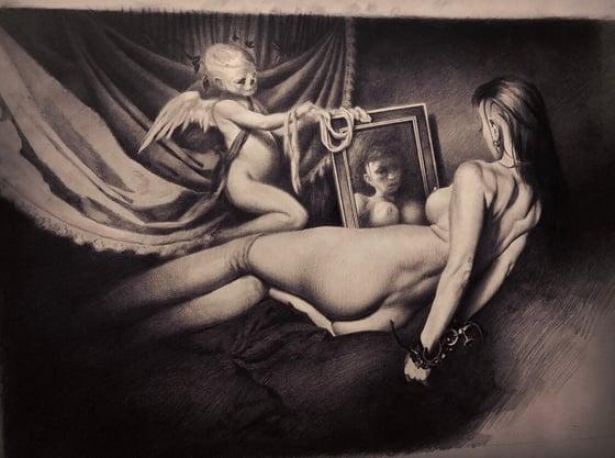 "Image of 'LA MARIPOSA NEGRA' - [ 'THE BLACK BUTTERFLY' ] 10 x 13"" - Miniature Open Edition Print"