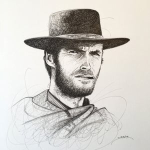 Image of Clint Eastwood Doodle