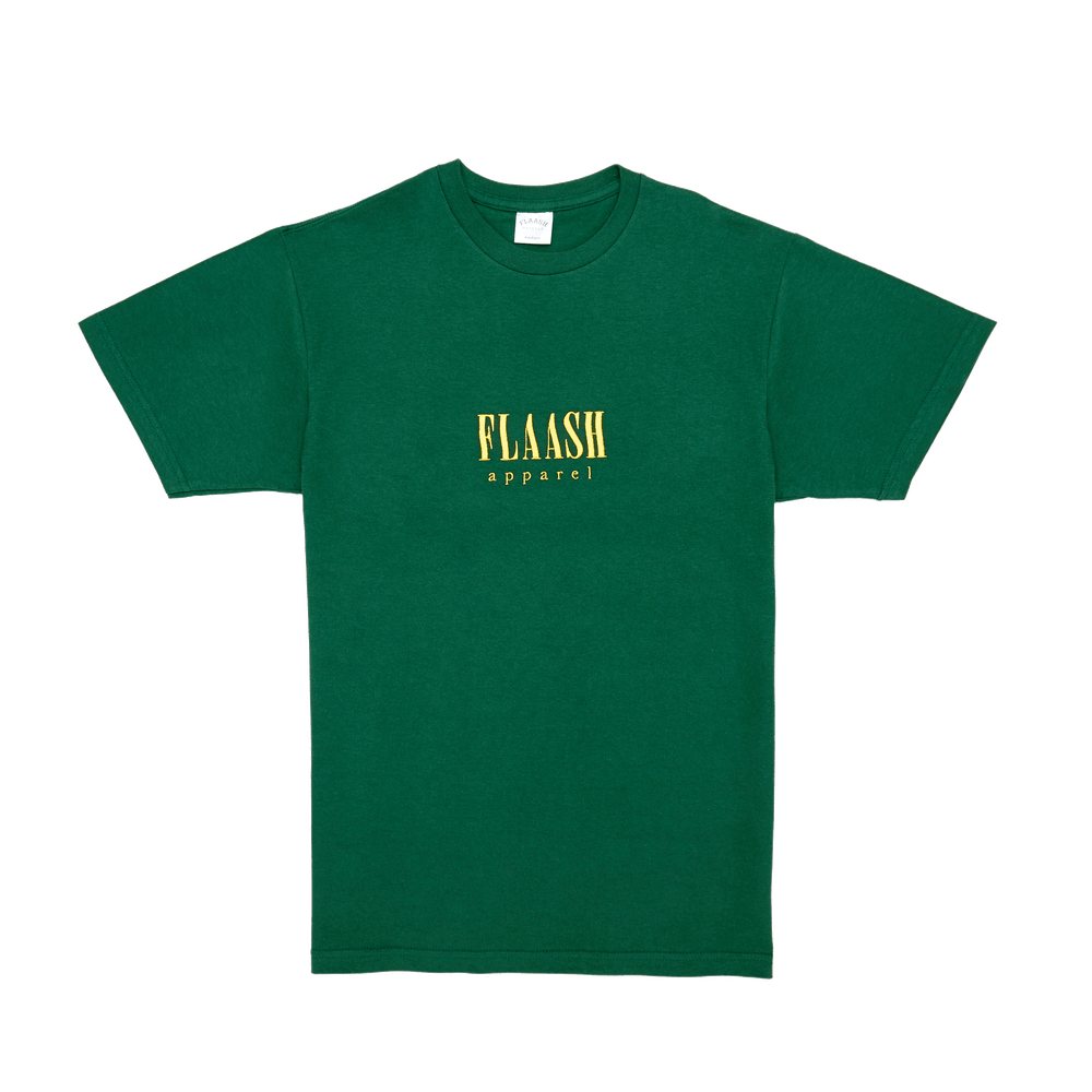 Image of Wavy Logo Tee - Dark Green