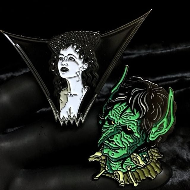 Image of Dark Lili by Demonic Pinfestation and Blix by Ghoulish Gary Pullin