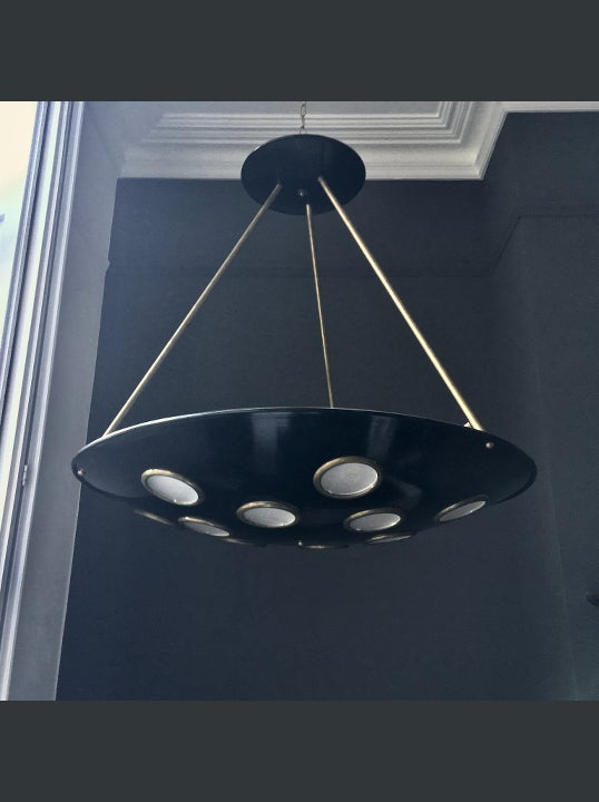 Image of Large Italian Saucer Chandelier