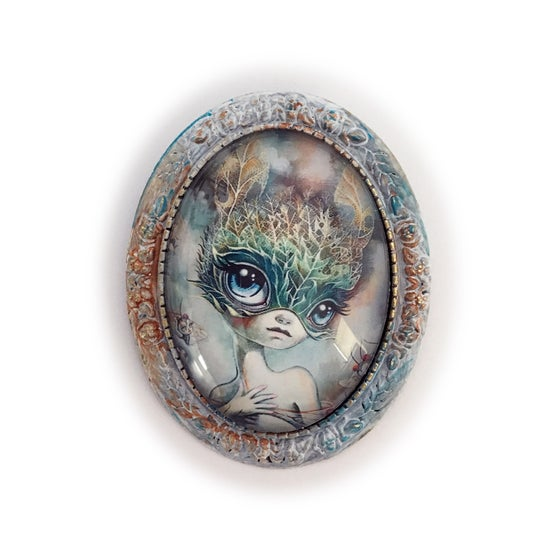Image of Transient Fairytale (Mini Print Brooch)