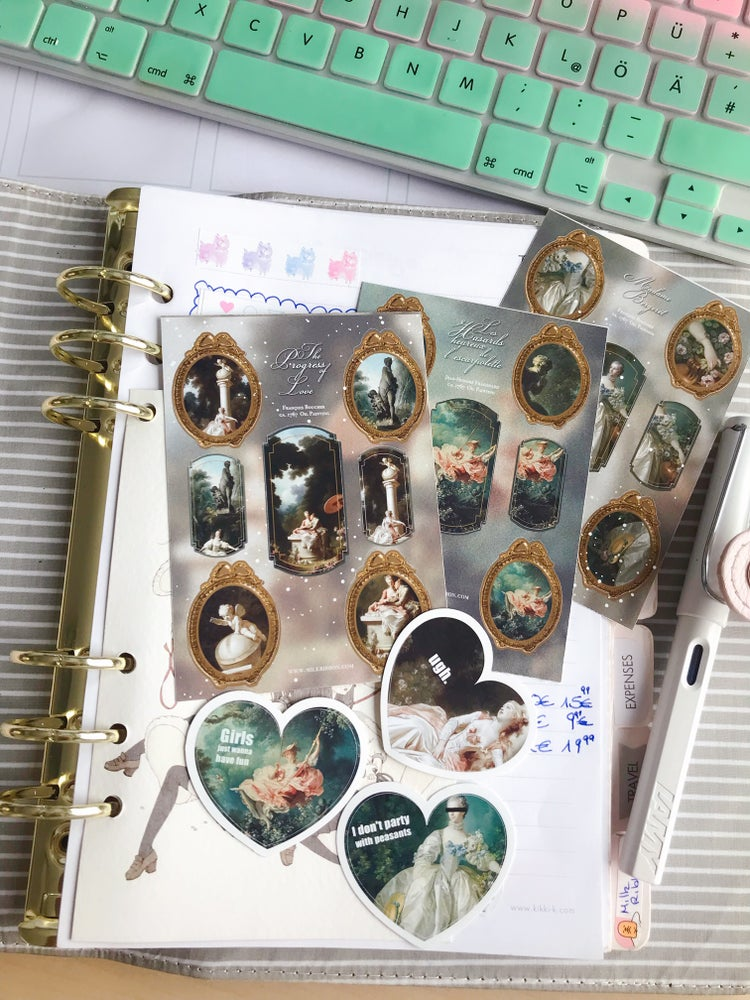 Image of The Roses of Versailles Sticker Sheet