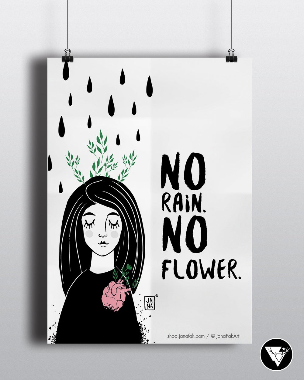Image of No rain. No Flower / art print