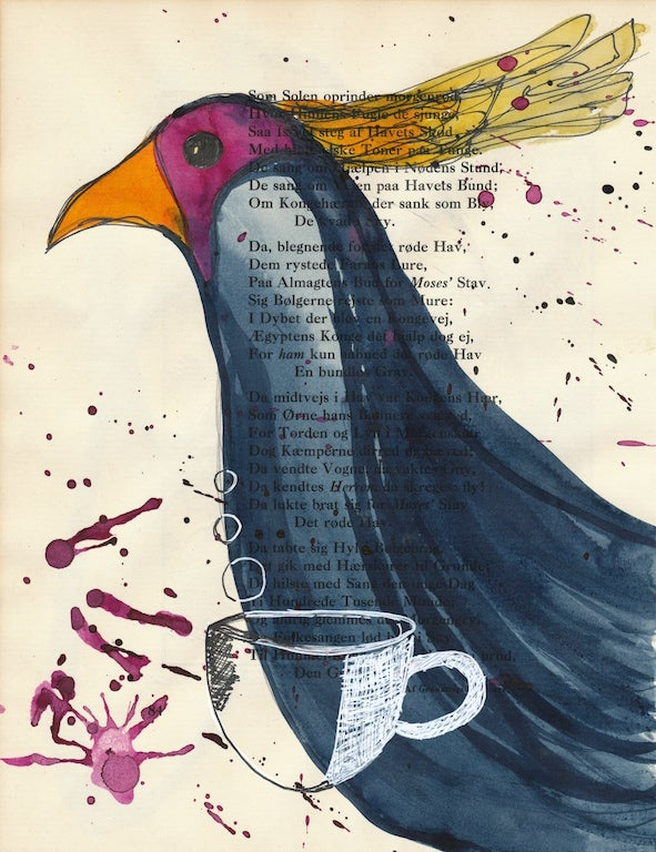 Image of coffee bird - kaffe fugl