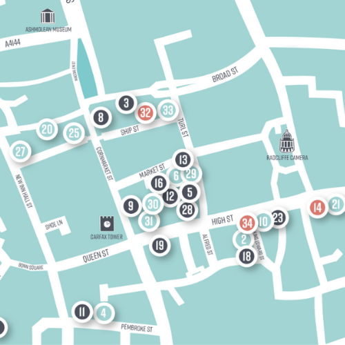 Image of OX1 CITY CENTRE MAP