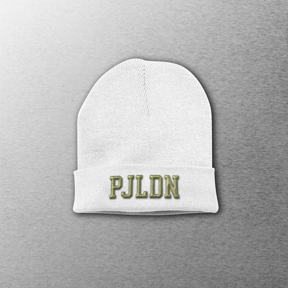 Image of Patrick Joseph Grey Embroidered PJLDN Beanie Hat