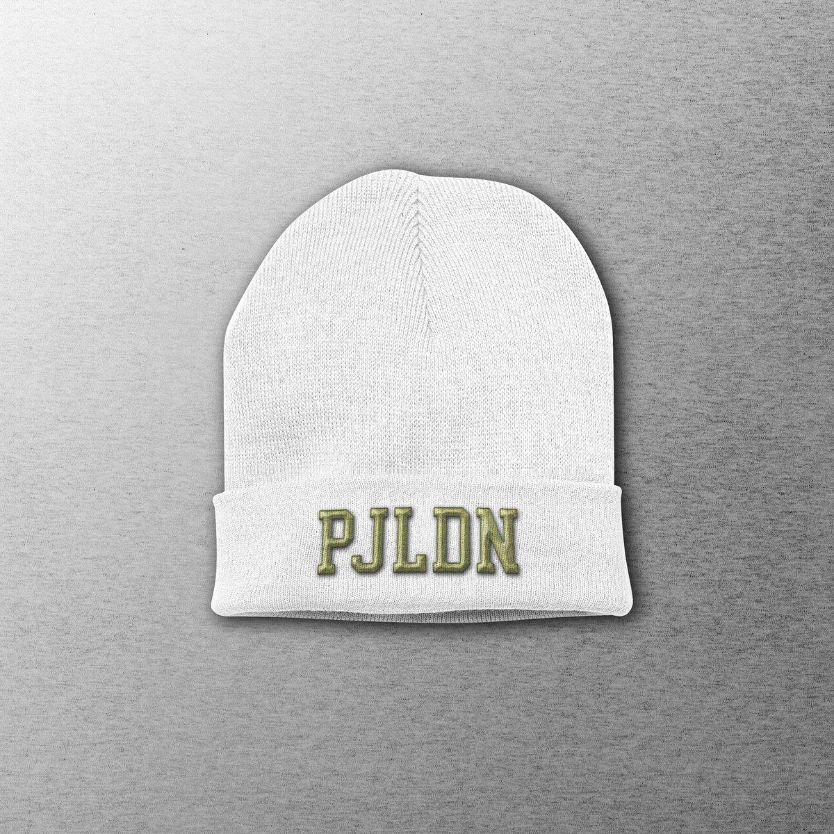 Image of Patrick Joseph Grey Embroidered PJLDN Beanie Hat