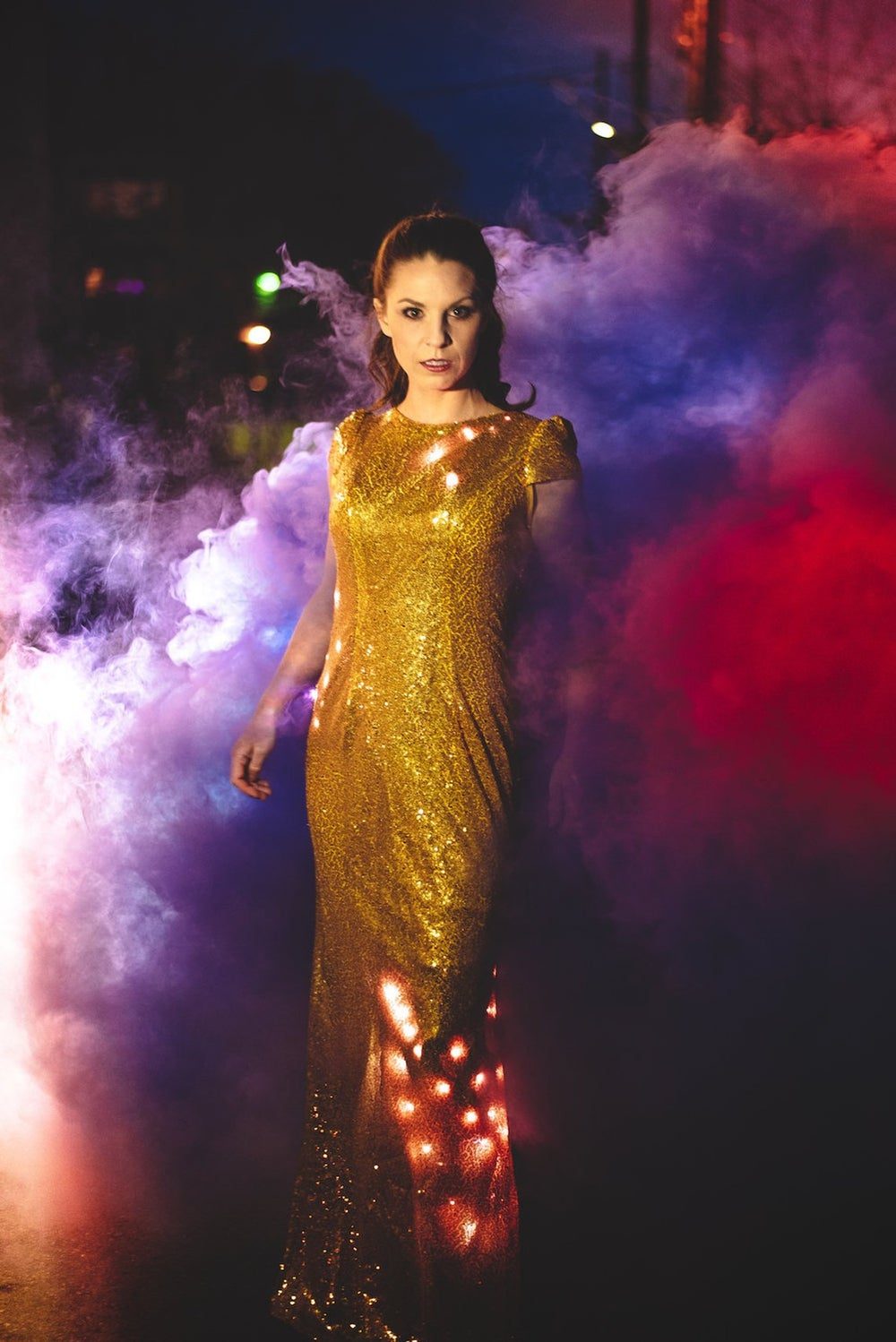 Image of Light Up Dress: Long Sequin Programmable LED Dress