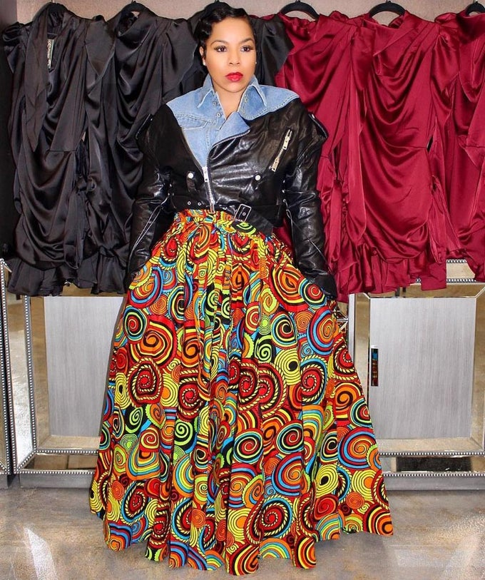 Image of Color bomb African skirt