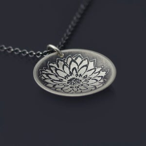 Image of Sterling Silver Dahlia Necklace
