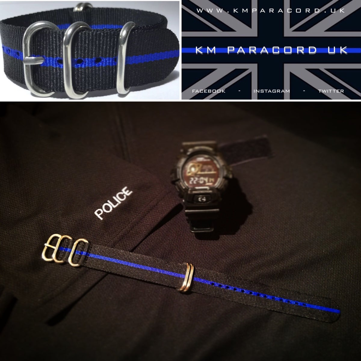Image of KMP THIN BLUE LINE 'NATO' Watch Strap