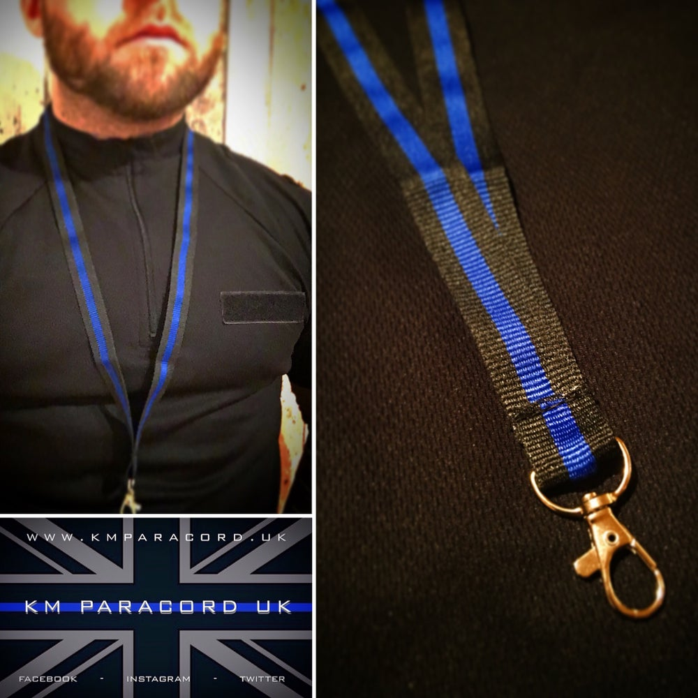 Image of KMP 'THIN BLUE LINE' ID Lanyard
