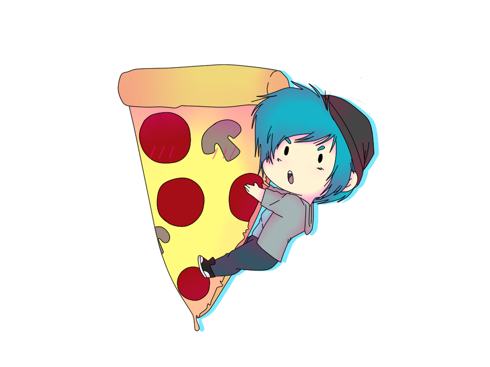 Image of Hugging Pizza Sticker