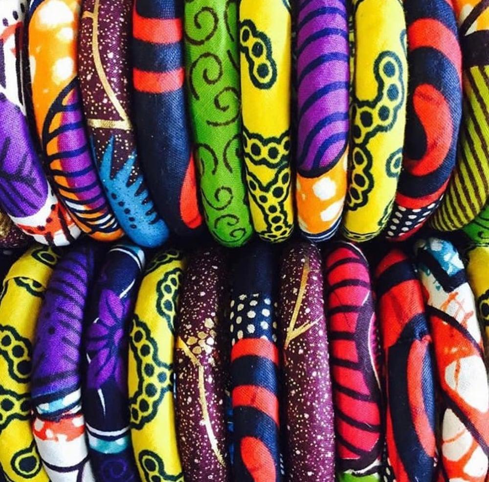 Image of fabric bangles
