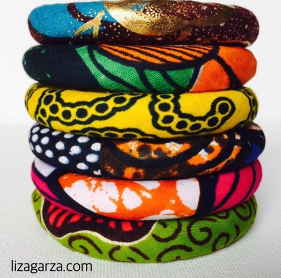 Image of fabric bangles