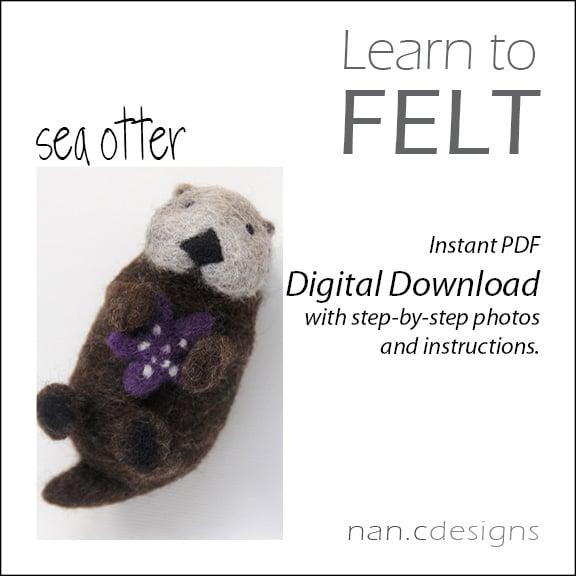 Image of PDF Sea Otter Felting Instructions
