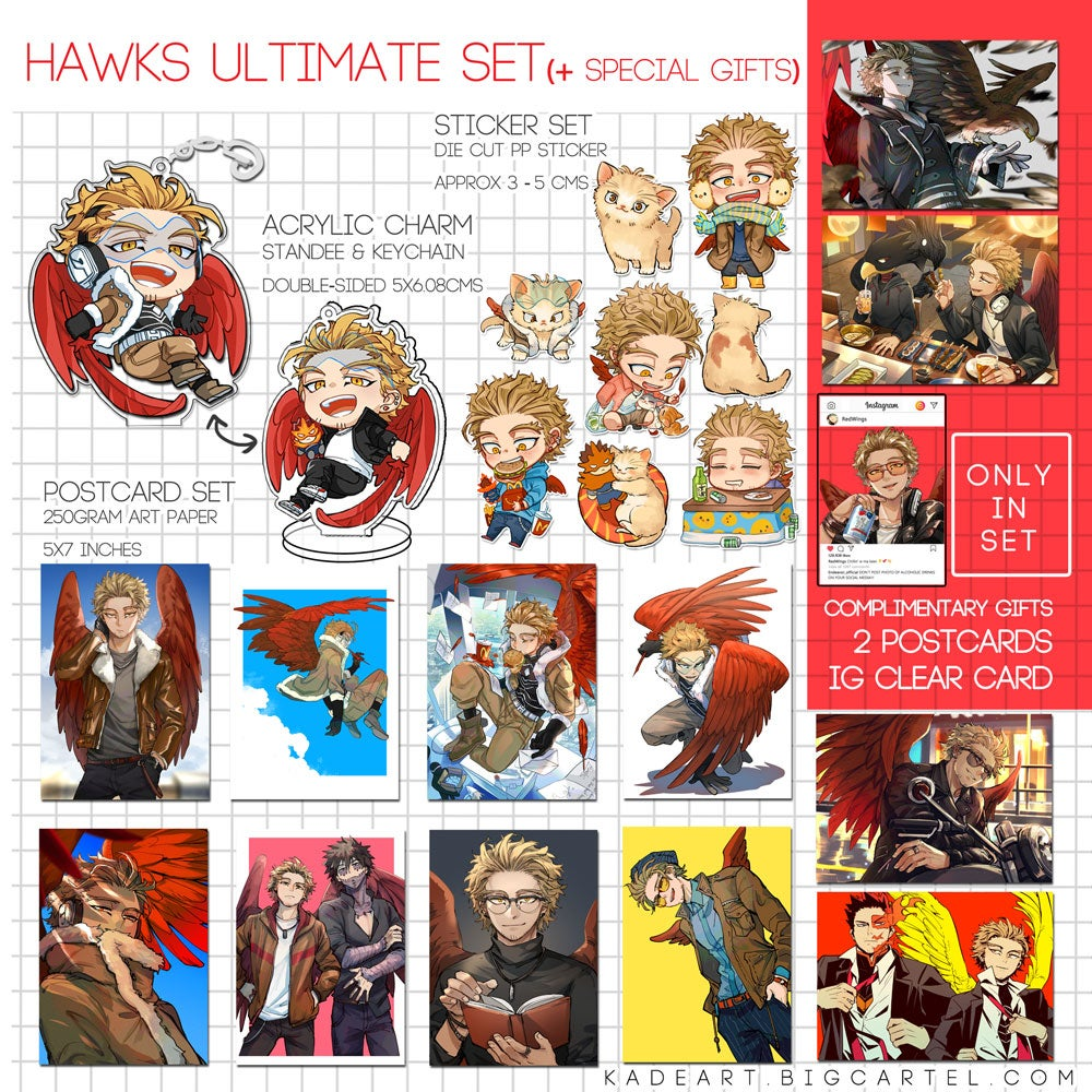 [BNHA] HAWKS ULTIMATE SET (+SPECIAL GIFTS!!!)