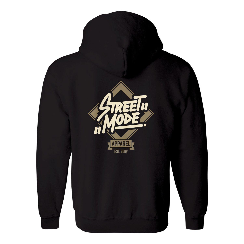Image of Street Mode Zip Hoodie (Black)