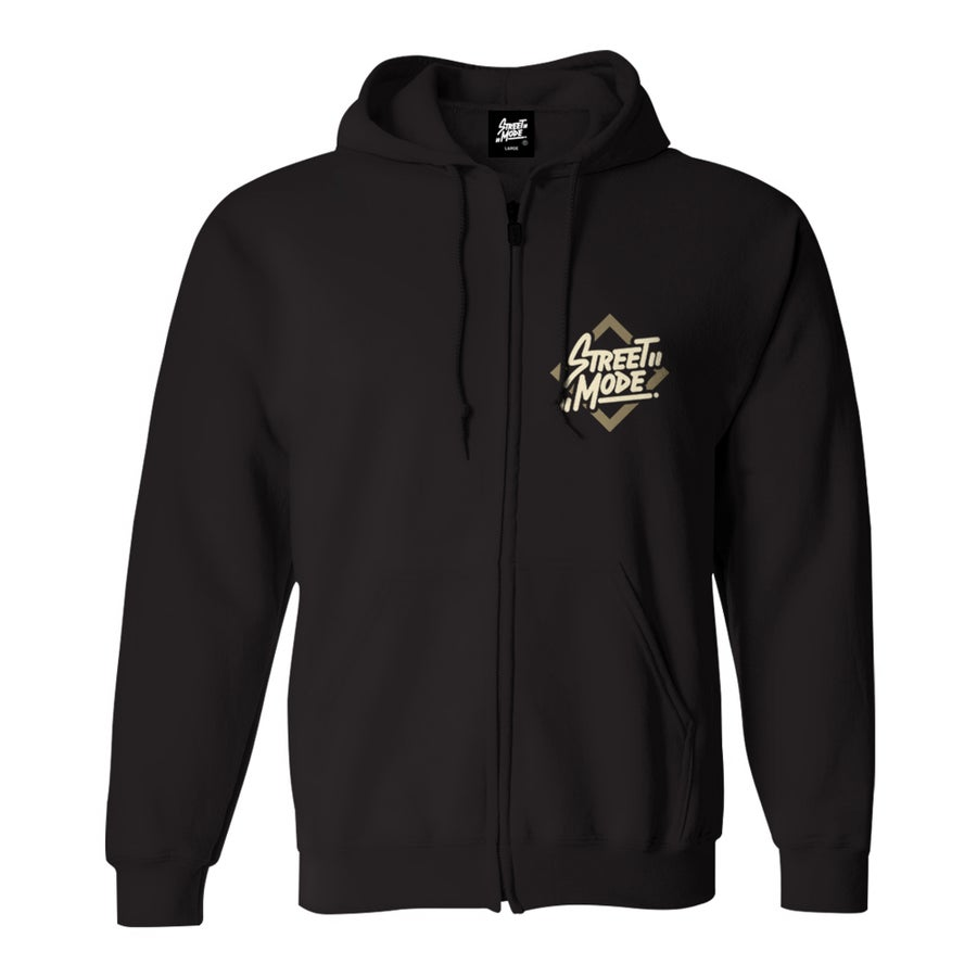 Image of Street Mode Zip Hoodie (Black)