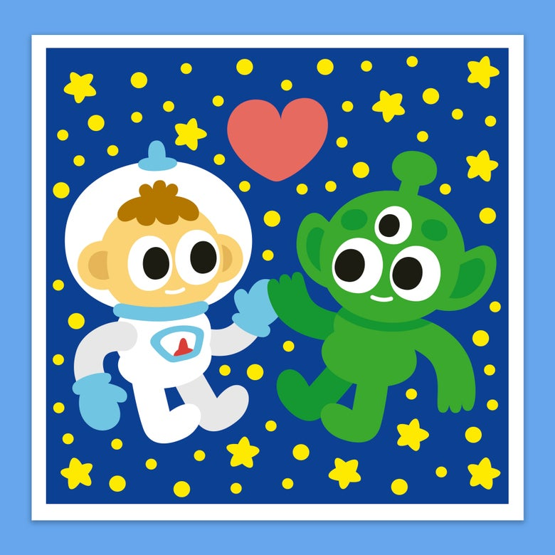 Image of <b> Intergalactic Love </b> Greeting Card