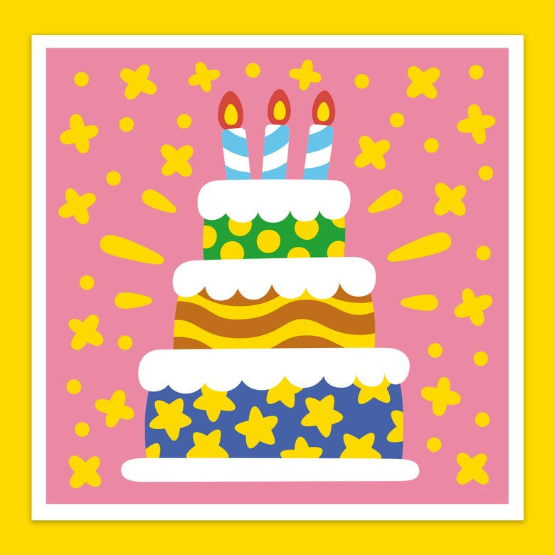 Image of <b> Super Happy Birthday! </b> Greeting Card