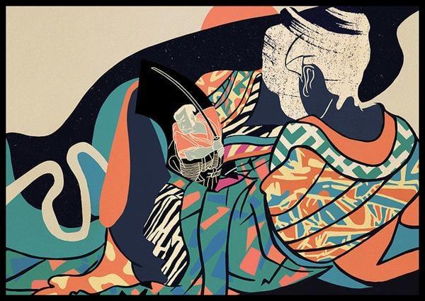 Image of 'Homage To Utamaro' // Giclee print
