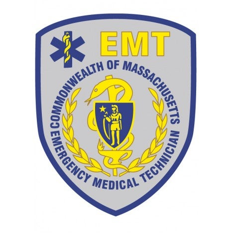 Image of Massachusetts EMT Patch Decal