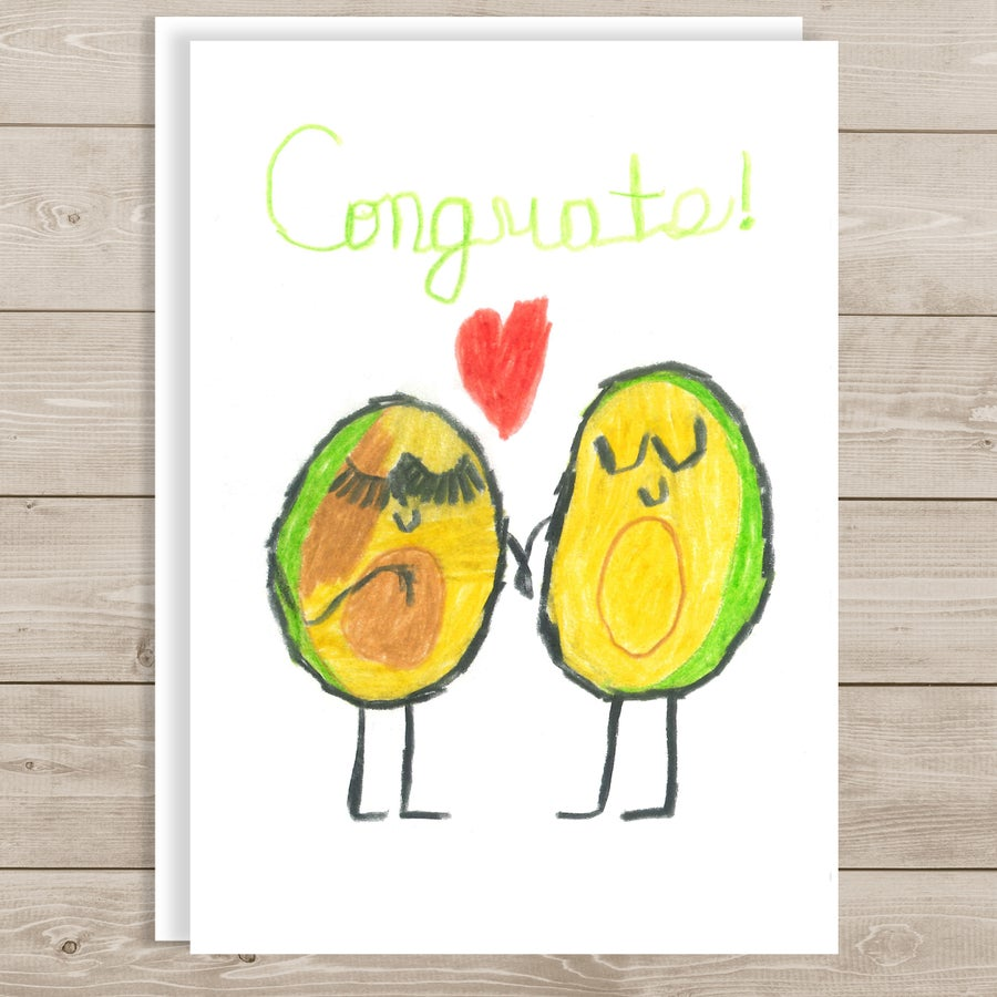 Image of Baby congratulations note card