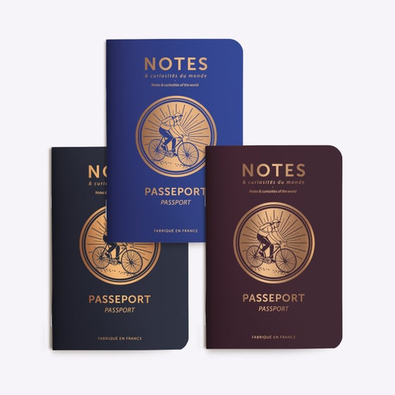 Image of TRIO PETITS CARNETS PASSEPORT CYCLE
