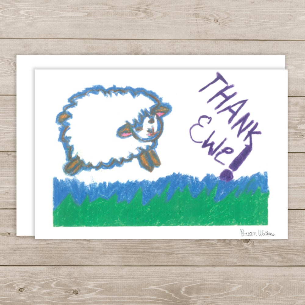 Image of Thank Ewe note cards