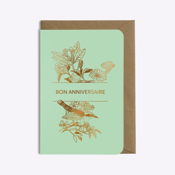 Image of CARTE ANNIVERSAIRE BIRDS