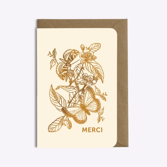 Image of CARTE MERCI PAPILLONS