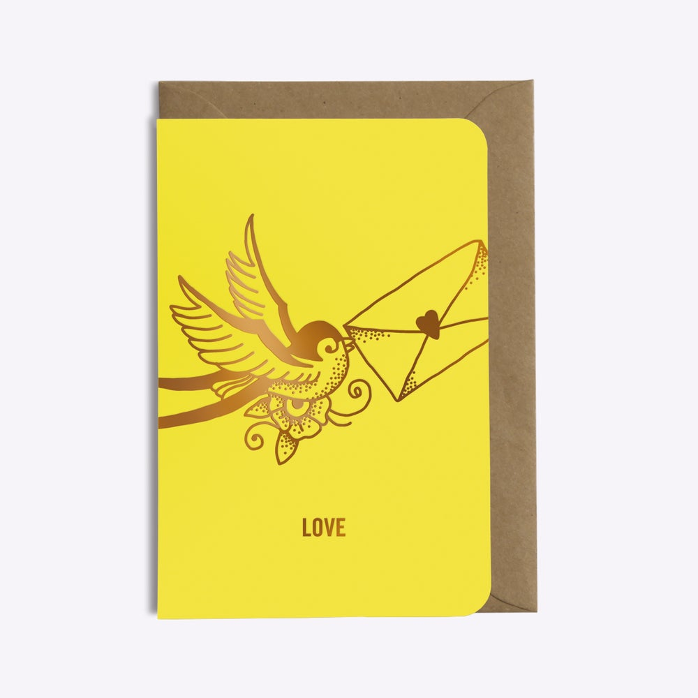 Image of CARTE LOVE LETTER JAUNE