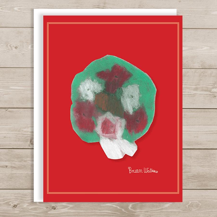 "Image of Christmas Wreath <br> ""Wonderful Christmas"""