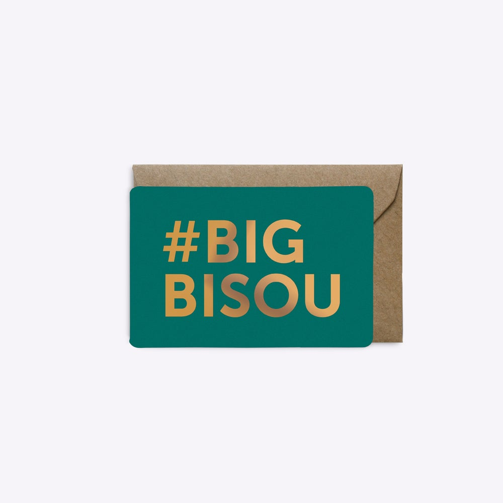 Image of MINI-CARTE #BIGBISOU émeraude