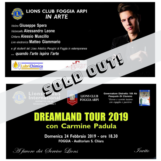 Image of Dreamland Tour - Foggia, 24 Febbraio - Tickets (SOLD OUT)