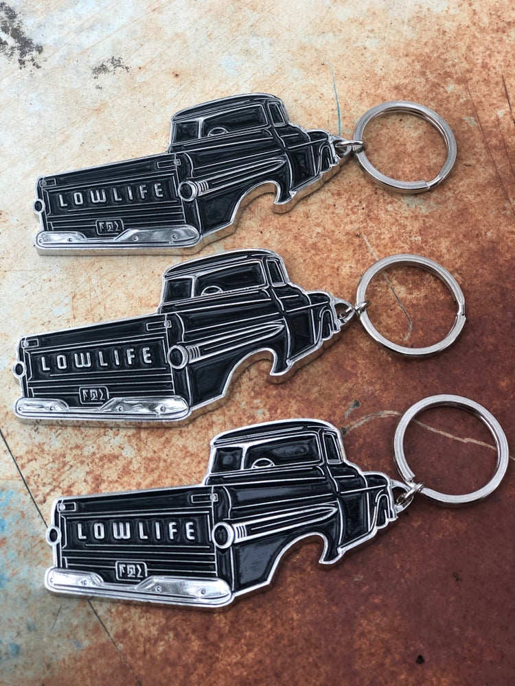 Image of The Lowlife Fleetside Bottle Opener Keychain