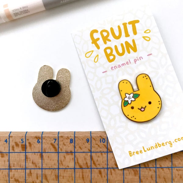 Image of Fruit Bun - Enamel Pin
